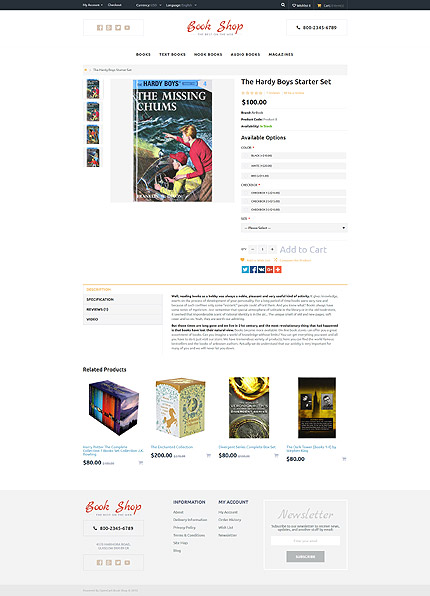 Books Most Popular website inspirations at your coffee break? Browse for more OpenCart #templates! // Regular price: $49 // Sources available: .PSD, .PNG, .PHP, .TPL, .JS #Books #Most Popular #OpenCart