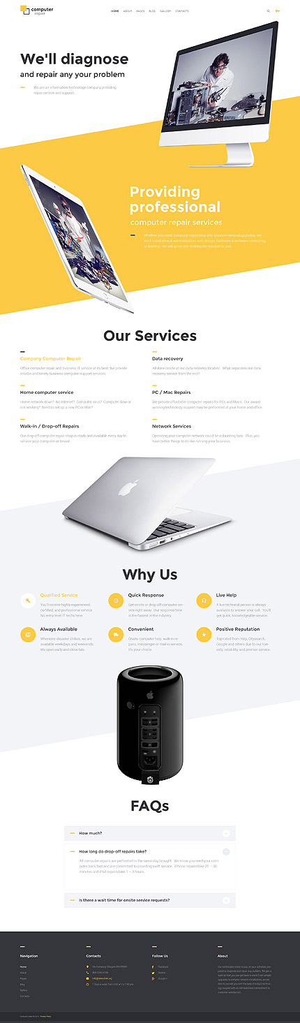 Computers Most Popular website inspirations at your coffee break? Browse for more Joomla #templates! // Regular price: $75 // Sources available: .PSD, .PHP #Computers #Most Popular #Joomla