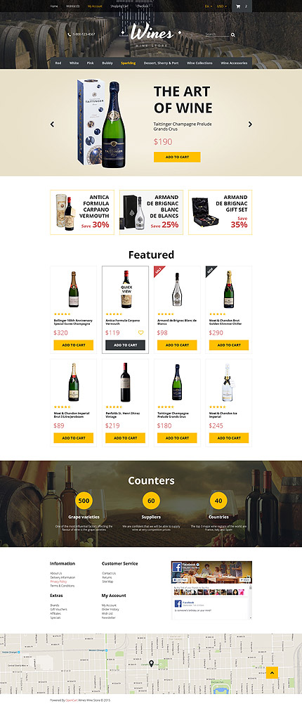 Food drink type opencart templates template 57580 for Opencart template editor