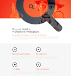 Detective Landing Page Template