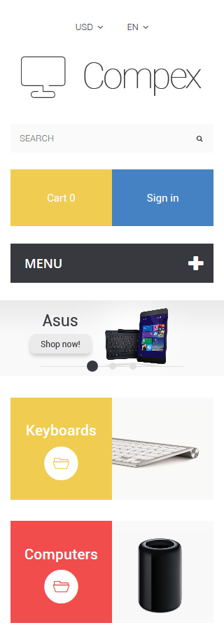 Computers Most Popular website inspirations at your coffee break? Browse for more PrestaShop #templates! // Regular price: $139 // Sources available: .PSD, .PHP, .TPL #Computers #Most Popular #PrestaShop