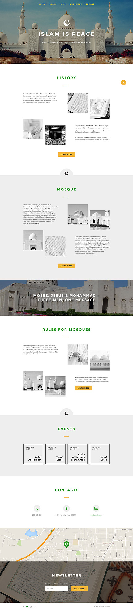 Islam Landing Page Template