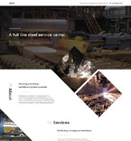 Industrial Landing Page Template