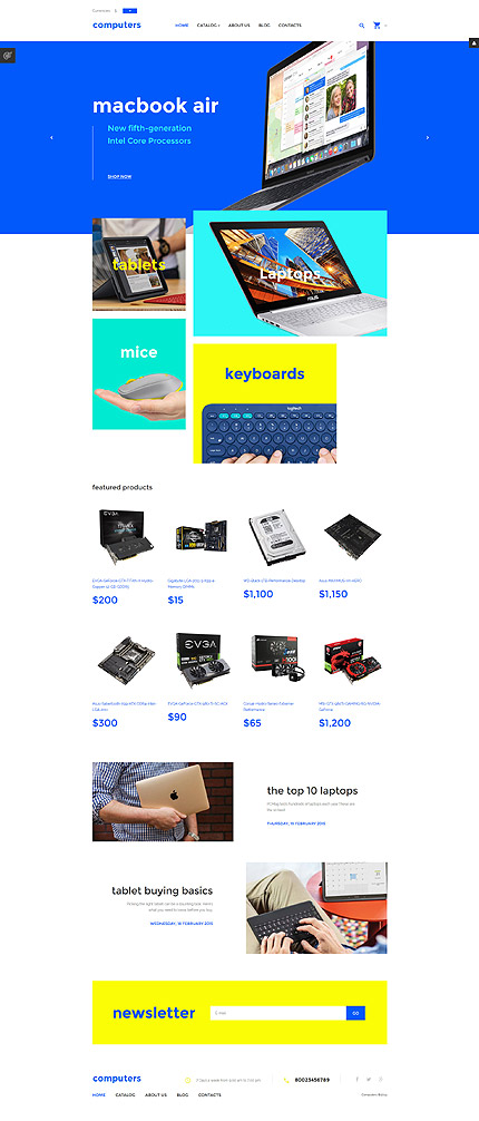 Computers website inspirations at your coffee break? Browse for more VirtueMart #templates! // Regular price: $139 // Sources available: .HTML,  .PSD, .PHP, .XML, .CSS, .JS #Computers #VirtueMart