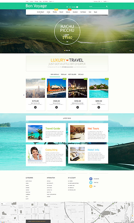 Travel Most Popular website inspirations at your coffee break? Browse for more PrestaShop #templates! // Regular price: $139 // Sources available: .PSD, .PHP, .TPL #Travel #Most Popular #PrestaShop