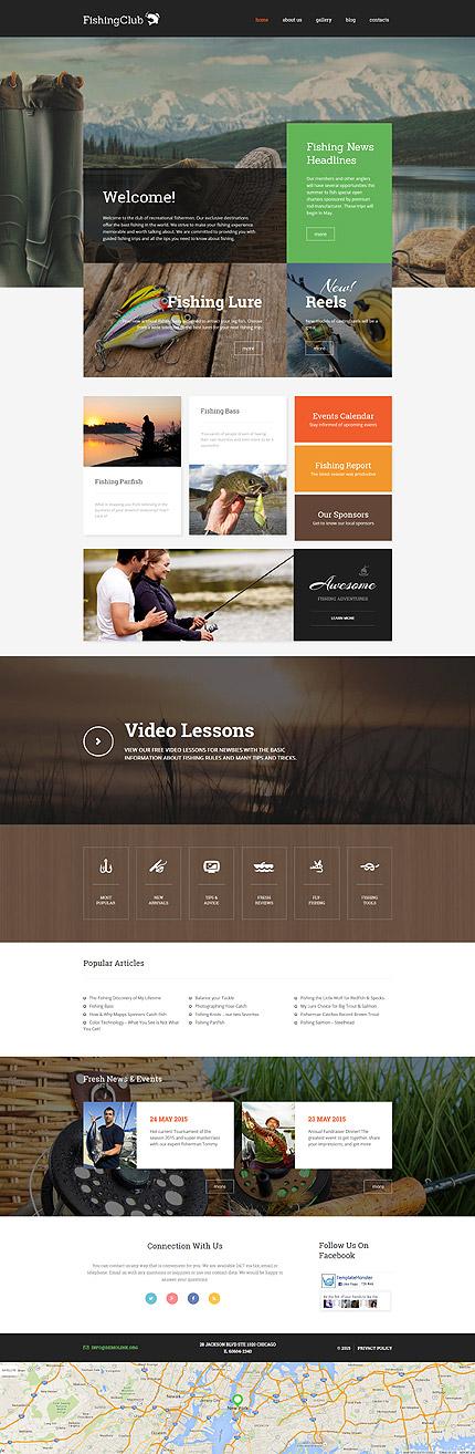 Fishing Club Responsive WordPress Ready Made Design