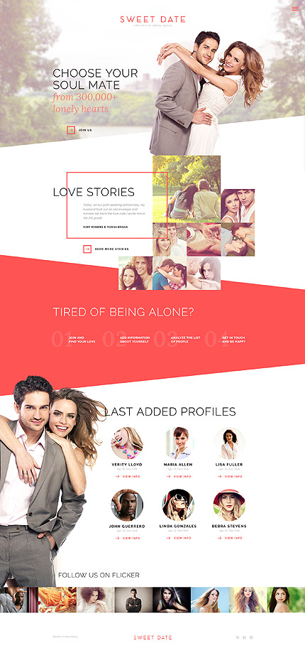 Dating Most Popular website inspirations at your coffee break? Browse for more Bootstrap #templates! // Regular price: $75 // Sources available: .HTML,  .PSD #Dating #Most Popular #Bootstrap