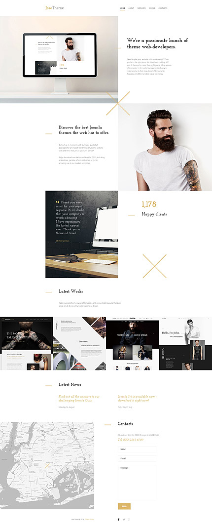 Web Design Most Popular website inspirations at your coffee break? Browse for more Bootstrap #templates! // Regular price: $75 // Sources available: .HTML,  .PSD #Web Design #Most Popular #Bootstrap