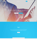 Responsive JavaScript Animated Template #57837