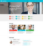 Responsive JavaScript Animated Template #57851