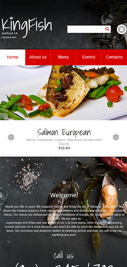 Cafe and Restaurant website inspirations at your coffee break? Browse for more Drupal #templates! // Regular price: $75 // Sources available: .PSD, .PHP #Cafe and Restaurant #Drupal