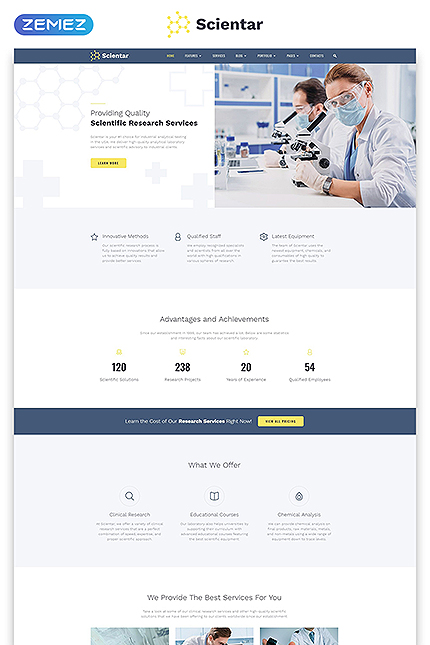Science Most Popular website inspirations at your coffee break? Browse for more Bootstrap #templates! // Regular price: $75 // Sources available: .HTML,  .PSD #Science #Most Popular #Bootstrap