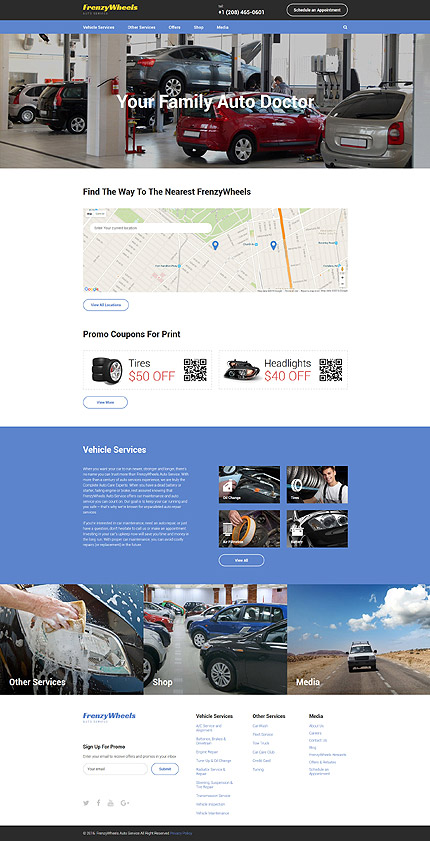 Car Most Popular website inspirations at your coffee break? Browse for more Bootstrap #templates! // Regular price: $75 // Sources available: .HTML,  .PSD #Car #Most Popular #Bootstrap
