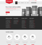 Responsive JavaScript Animated Template #58003