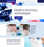Chemical Company Landing Page Template
