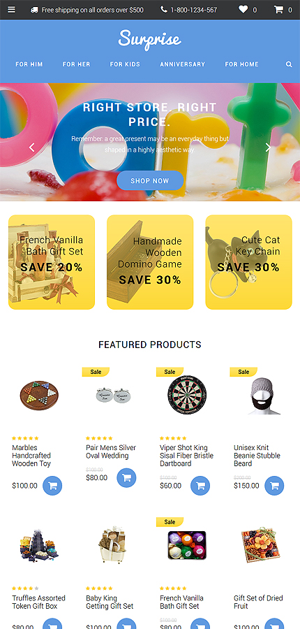 Gifts Most Popular website inspirations at your coffee break? Browse for more OpenCart #templates! // Regular price: $49 // Sources available: .PSD, .PNG, .PHP, .TPL, .JS #Gifts #Most Popular #OpenCart