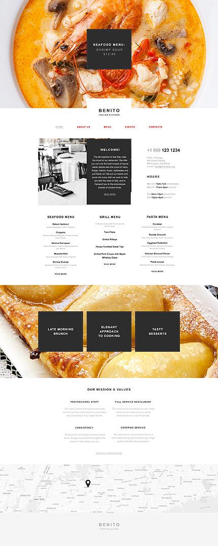 Muse шаблон сайта итальянского ресторана - Benito