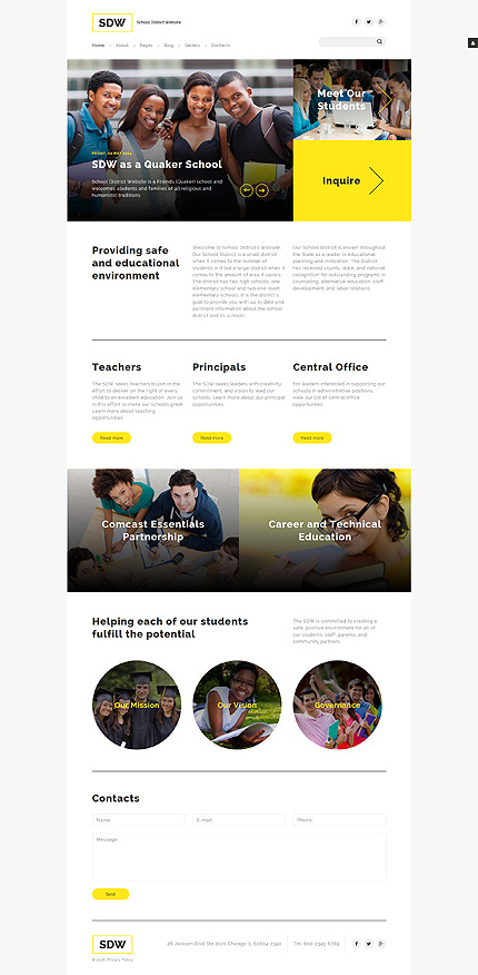 Education Most Popular website inspirations at your coffee break? Browse for more Joomla #templates! // Regular price: $75 // Sources available: .PSD, .PHP #Education #Most Popular #Joomla