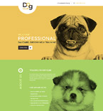 Dog Club Landing Page Template