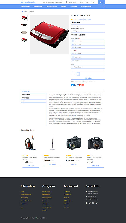 Electronics Most Popular website inspirations at your coffee break? Browse for more OpenCart #templates! // Regular price: $45 // Sources available: .PSD, .PNG, .PHP, .TPL, .JS #Electronics #Most Popular #OpenCart