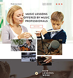 Music Lessons Landing Page Template