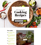 Cooking Recipes Landing Page Template
