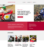 Motorcycles Club Landing Page Template