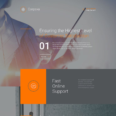 Landing Page Template # 58222