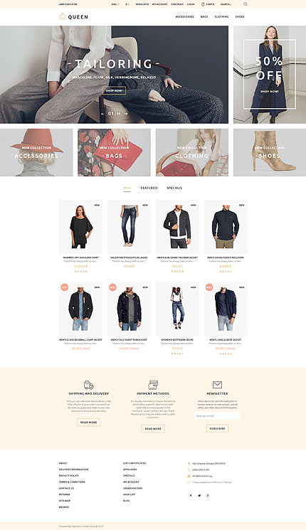 Fashion Most Popular website inspirations at your coffee break? Browse for more OpenCart #templates! // Regular price: $54 // Sources available: .PSD, .PNG, .PHP, .TPL, .JS #Fashion #Most Popular #OpenCart
