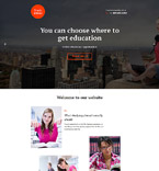 Study Abroad Landing Page Template
