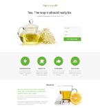 Tea Club Landing Page Template