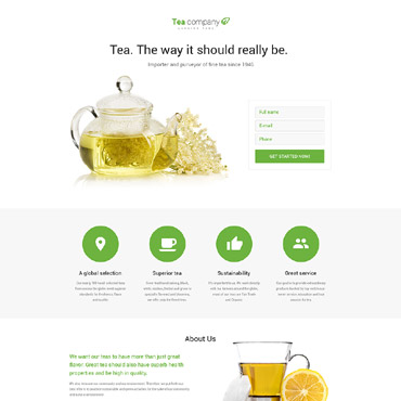 Landing Page Template # 58269