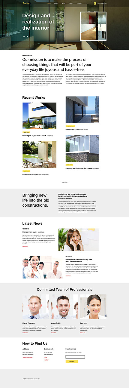 Architecture Most Popular website inspirations at your coffee break? Browse for more Responsive JavaScript Animated #templates! // Regular price: $69 // Sources available: .HTML,  .PSD #Architecture #Most Popular #Responsive JavaScript Animated