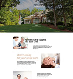 Elderly Care Center Landing Page Template