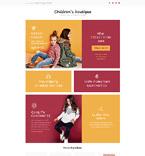 Children's Boutique Landing Page Template
