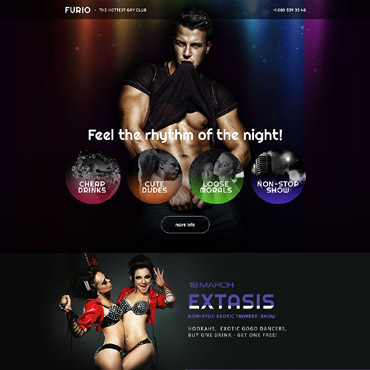 Landing Page Template # 58312