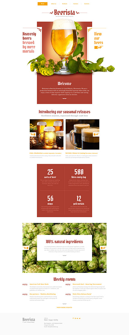 Most Popular Brewery Templates website inspirations at your coffee break? Browse for more Responsive JavaScript Animated #templates! // Regular price: $69 // Sources available: .HTML,  .PSD #Most Popular #Brewery Templates #Responsive JavaScript Animated