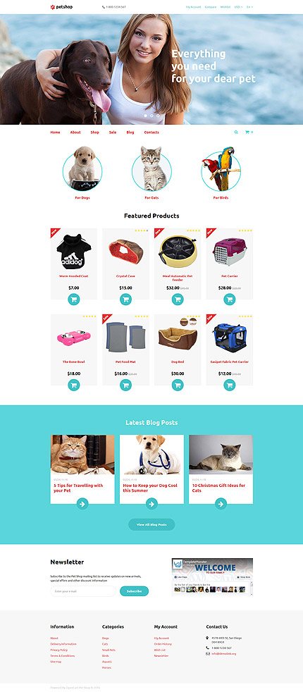 Animals & Pets Most Popular website inspirations at your coffee break? Browse for more OpenCart #templates! // Regular price: $59 // Sources available: .PSD, .PNG, .PHP, .TPL, .JS #Animals & Pets #Most Popular #OpenCart