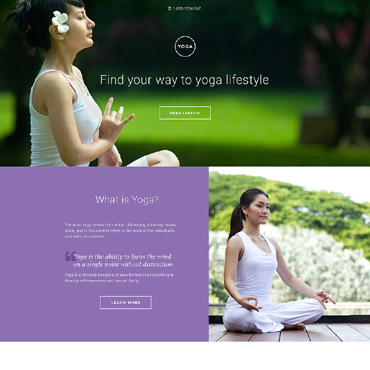 Landing Page Template # 58334