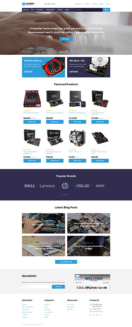 Computers Most Popular website inspirations at your coffee break? Browse for more OpenCart #templates! // Regular price: $59 // Sources available: .PSD, .PNG, .PHP, .TPL, .JS #Computers #Most Popular #OpenCart