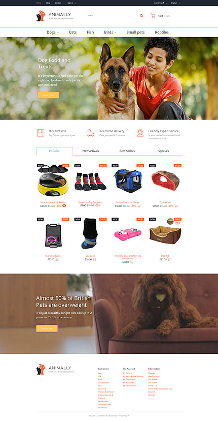 Animals & Pets Most Popular website inspirations at your coffee break? Browse for more PrestaShop #templates! // Regular price: $139 // Sources available: .PSD, .PHP, .TPL #Animals & Pets #Most Popular #PrestaShop