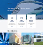 Responsive JavaScript Animated Template #58372
