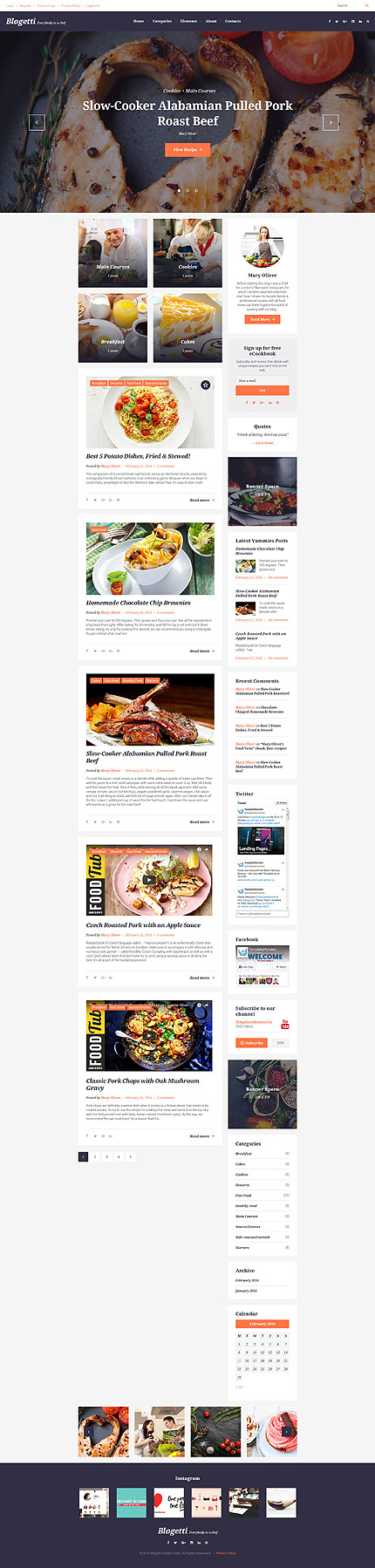 Cafe and Restaurant Most Popular website inspirations at your coffee break? Browse for more WordPress #templates! // Regular price: $45 // Sources available:.PHP, This theme is widgetized #Cafe and Restaurant #Most Popular #WordPress
