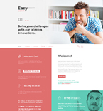 Responsive JavaScript Animated Template #58400