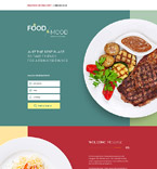 Food Market Landing Page Template