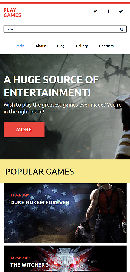 Games Most Popular website inspirations at your coffee break? Browse for more WordPress #templates! // Regular price: $79 // Sources available: .PSD, .PHP, This theme is widgetized #Games #Most Popular #WordPress