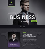 Business Information Landing Page Template