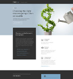 Investment Company Landing Page Template