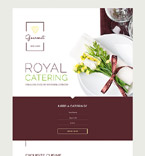 Royal Catering Landing Page Template