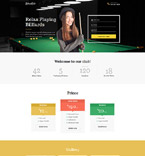 Billiard Club Landing Page Template